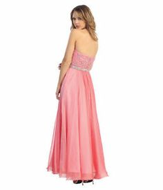 Strapless Sweetheart Neckline Rhinestones Waist Floor Length Prom Homecoming | eBay
