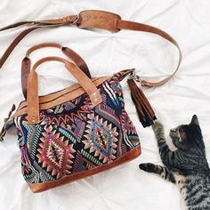 The Nena & Co. Sonia Carryall: kitty paw approved.