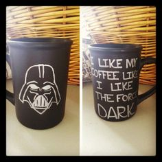 Custom Coffee Mug. Darth's Coffee. by LoveItGetItGotIt on Etsy, $14.00 I think i should buy this for my love.