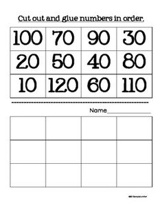 Skip Counting Math Practice $