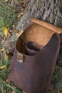 Handmade Leather Daypack by hmcurriers on Etsy