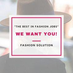 Wij zijn op zoek naar jou! Zoek jij een nieuwe baan of ben je afgestudeerd en druk bezig met solliciteren? Check onze nieuwe vacature aanbod op www.fashionsolution.nl, en wellicht zien wij jou binnenkort bij Fashion Solution..