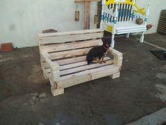 Sofa de Paletes para cachorros.