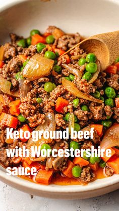 Healthy Low Carb Recipes, Low Carb Dinner Recipes, Keto Recipes, Cooking Recipes, Paleo Chicken Recipes, Dinner Healthy, Healthy Meals, Healthy Ground Beef, Whole30 Ground Beef Recipes