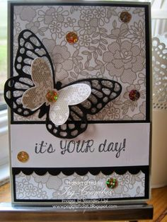 Stampin Up UK Demonstrator UK Pegcraftalot Order Stampin Up HERE: Something Lacy Stampin' Up! Background Card