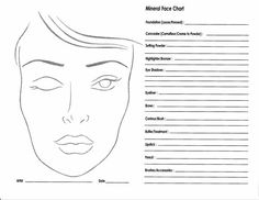 Face charts, to print out.