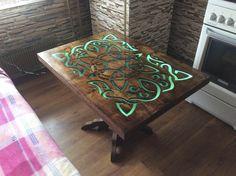 Столик с подсветкой. стол, Своими руками, Фото, рукожоп, длиннопост
