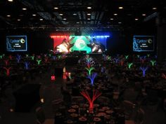 Corporate event with glow sticks!