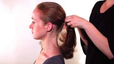 The Perfect #Ponytail and #Chignon- For Redheads- How To #Hairstyles #hairtutorial Perfect Ponytail, Fringe Hairstyles, Hair Ties, Redheads, Bobby Pins, Fashion, Ribbon Hair Ties, Red Heads, Moda