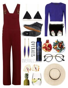 """""""Tricky Trend: Overalls"""" by piedraandjesus ❤ liked on Polyvore featuring Chloé, Cushnie Et Ochs, Jennifer Meyer Jewelry, Bumble and bumble, Lulu Guinness, Kale, TrickyTrend and overalls"""