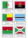 Flags Of Africa 3 Part Cards