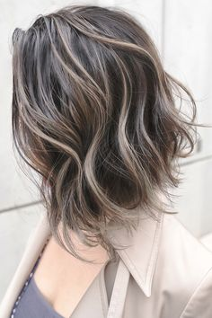 Hair Color For Black Hair, Love Hair, Hair Inspo, Hair Inspiration, Long Hair Cuts, Silver Hair, Ombre Hair, Bob Hairstyles, Short Hair Styles