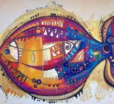 077 Canan Berber Hamsa Art, Pomegranate Art, Cat Art Print, Free Vector Illustration, Turkish Art, Fish Art, Fish Fish, Fish Design, Art Journal Pages