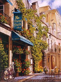 Travel Inspiration for France - Au Vieux Paris, Rue Chanoinesse, Paris, France
