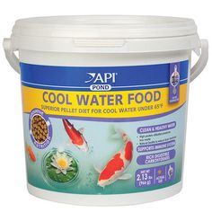 Fish Pond Supplies 134750: Api Pond - Cool Water Fish Food, 2.13Lbs -> BUY IT NOW ONLY: $30.99 on #eBay #supplies #water Fish Pond Supplies, Fish Food, Aquarium Fish, Fish Recipes, Coffee Cans, Pet Supplies, Good Food, Canning, Water