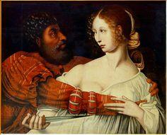 Jan Sanders van Hemessen (Flemish,ca. 1500 - ca. 1566)  - Tarquin et Lucretia