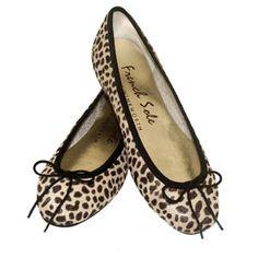 French Sole - Leopard Print Ballet Pumps