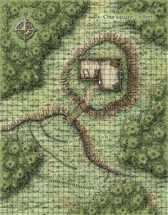 Dungeons & Dragons clipart farm map - pin to your gallery. Explore what was found for the dungeons & dragons clipart farm map Fantasy Map Maker, Fantasy World Map, Fantasy Battle, Fantasy Rpg, Forest Map, Forest Hill, Environment Map, Pathfinder Maps, Rpg Map