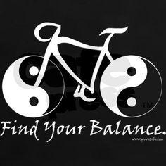 Find Your Balance (bike) Women's Dark T-Shirt