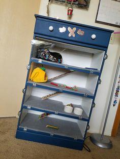 DIY hedgehog and animal cage! Originally a dresser, transformed into this beauty.