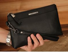 Men's hand bag leather wallet purse men phone by MiniDragonfruit, $42.00