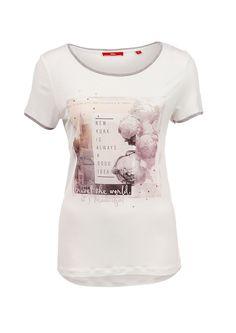 Shirt mit Foto-Print und Strass von s.Oliver. Entdecken Sie jetzt topaktuelle…