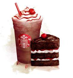 Starbucks Winter Fest Campaign #starbucks #illustration #illustrations #ad