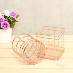 Metal Rose Gold Stationary Organizers Item Type: Stationary Organizers Material: Metal Alloy Dimensions: x x inch; x x inch Package Weight: lb Package Includes: One Stationary Organizer