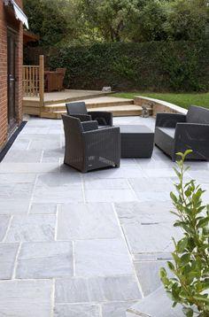 Garden Slabs, Garden Tiles, Patio Slabs, Patio Tiles, Garden Paving, Garden Ideas Decking And Paving, Outdoor Tiles Patio, Outdoor Flooring, Garden Design Ideas On A Budget
