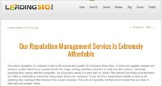 Our Reputation Management Service Is Extremely Affordable
