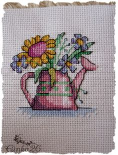 Bahar Sepeti: Mayıs 2012 Cross Stitch Needles, Blackwork Cross Stitch, Cross Stitching, Cross Stitch Embroidery, Cross Stitch Patterns, Stitch 2, Hand Sewing, Cross Stitch Flowers, Needlepoint
