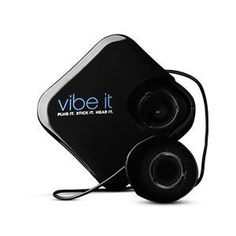 Vibe It: Portable Sound System That Turns Ordinary Objects Into a Speaker; I have this, it's ultimate tailgater must have! Amazing the sound it can put out of anything it touches! The whole bed of my truck becomes one huge speaker!