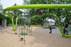 Parque de juegos en Weisbaden, Alemania