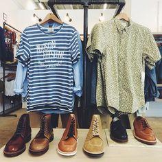 Alden exclusives in every color. #brickandmortar #Alden #MaisonKitsune #menswear