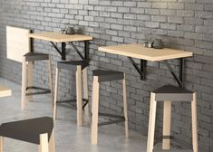 Retractable wall table ideal for small spaces