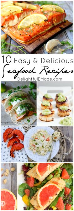 Seafood is one of our favorite ways to enjoy a healthy, delicious dinner, and these ten recipes are excellent, easy options for any night of the week!