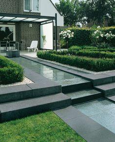 Sharp gardening - cascading reflection pool