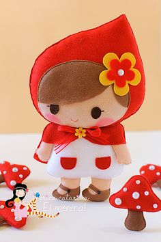 Chapeuzinho Vermelho (◠‿◠) by Ei menina! - Érica Catarina, via Flickr