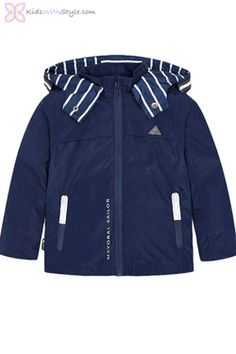 Buy MAYORAL WINDBREAKER 3480 85 from Puddleducks - an independent store in Lancashire selling designer childrenswear from birth to 14 years. Young Boys Fashion, Boys Fall Fashion, Baby Boy Fashion, Spring Fashion, Trending Boys Clothes, Boys Clothes Online, Designer Childrenswear, Boys Summer Outfits, Stylish Boys