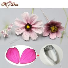 Daisy Blütenblatt Silikon Veiner & Cutter Blütenblatt Scherblockfondant Sugar Edelstahl Cutter Kuchen Dekorieren Formen(China (Mainland))