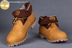 Custom Red Prints Wheat Roll Top Basic Warm Men Timberland Boots $90.99