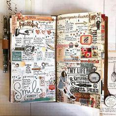 Midori Traveler's Notebook ideas and layouts. Inspiration for keeping a trav… Midori Traveler's Notebook ideas and layouts. Inspiration for keeping a travel journal, art journal or scrapbook Junk Journal, Album Journal, Planner Bullet Journal, Travel Journal Pages, Bullet Journal Inspo, Scrapbook Journal, Travel Scrapbook, Travel Journals, Journal Notebook