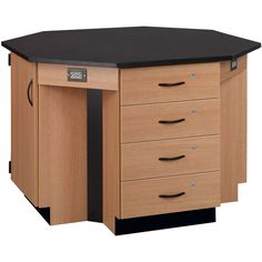 """Four-Student Octagon Island Table - 56""""W x 56""""D x 36""""H at SCHOOLSin"""