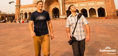 Summit Club members Nick and Rhys enjoy the serenity of Jama Masjid (India's largest Mosque) in Delhi.