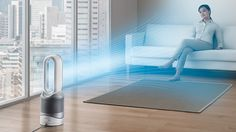 Dyson unveiled bladeless smart air purifier, that measures your air quality. According to Dyson, the bladeless purifier removes Tech Gifts For Men, Cool Tech Gifts, Tower Fan, Desk Fan, Link, Home Automation, Air Purifier, My Living Room, Shopping