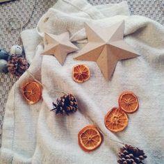 Holidays DIY  garland made with homemade dried oranges slices and pinecones from the garden  Petit DIY pour se mettre dans l'ambiance de Noël ! Une jolie guirlande nature avec des tranches d'orange séchées au four et des jolies pommes de pin du jardin !  #diy #christmas #garland #pinecone #christmasdiy #holidays #homedecor  #natural #orange #festive #noel #guirlande #deco #ann