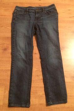 Ann Taylor LOFT 29 / 8 Curvy Straight Dark Wash Stretch Denim Jeans  | eBay