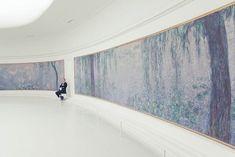 """Installation view of """"Water Lilies (Les Nymphéas),"""" 1920-26, Claude Monet. Musée de l'Orangerie, Paris."""