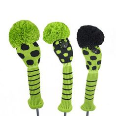 Just 4 Golf Ladies Black and Lime Dot Headcovers