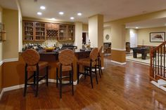 Bar layout with game room
